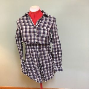 Forever21 Maternity size S plaid button down shirt